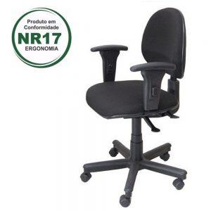 Combo com 10 Cadeiras Executivas Back System Lisa c/ Braços Reguláveis – VTR