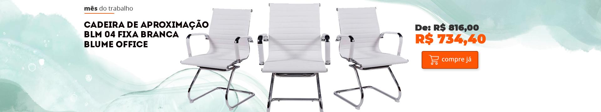 Cadeira de Aproximação BLM 04 Fixa Branca – Blume Office