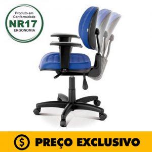 Cadeira Executiva Back System Costurada c/ Braços Reguláveis – VTR