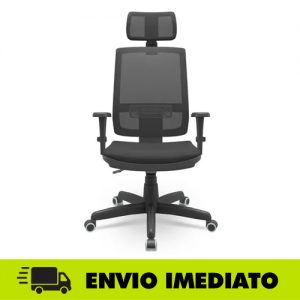 Cadeira Presidente Brizza Telada com Back System e encosto De Cabeça